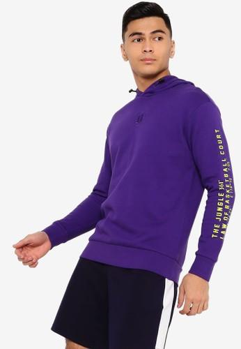 361° purple Basketball Series Hoodie 3729AAADFE1B96GS_1