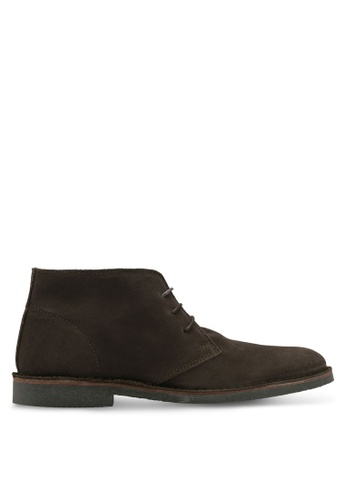 Selected Homme brown Royce Light Suede Boots A1662SH89E706FGS_1