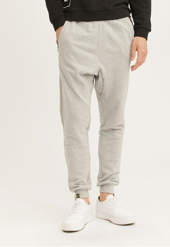 H:CONNECT grey Solid Color Jogger Pants E2143AA5AFCE80GS_1