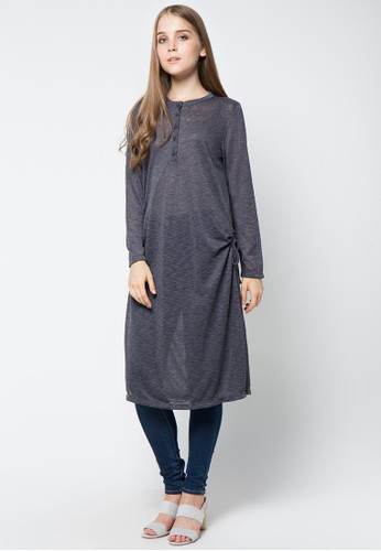 GRAPHIS grey Long Sleeve Tunic GR530AA69QTAID_1