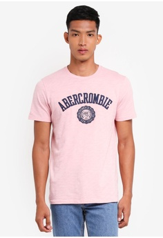 Abercrombie & Fitch pink Tech Legacy Fall T-Shirt 25D28AA1AD7FFCGS_1