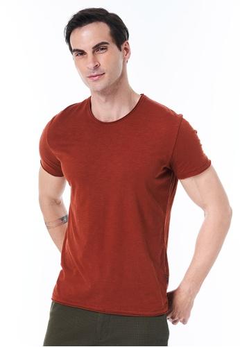 Sisley red Crew Neck T-shirt E1BF0AA374A8E5GS_1