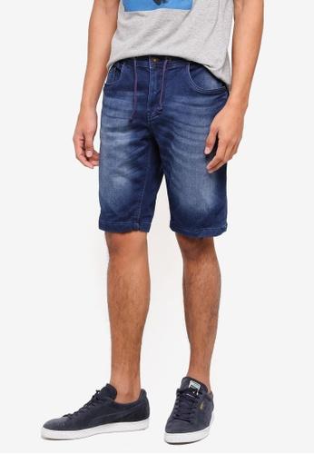 OVS 藍色 修身牛仔短褲 146BAAA3C0836EGS_1