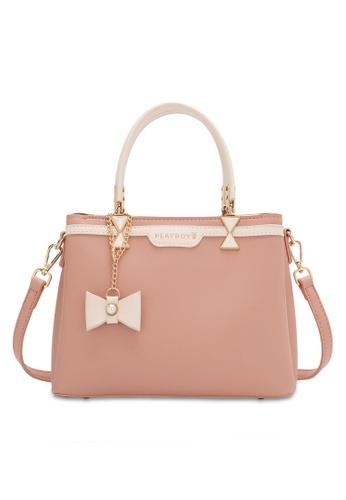 PLAYBOY BUNNY pink Women's Hand Bag / Top Handle Bag / Shoulder Bag E27C3AC8A09E01GS_1