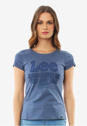 Lee blue Ladies Short Sleeves Graphic Tshirt 695FAAABE8F602GS_1