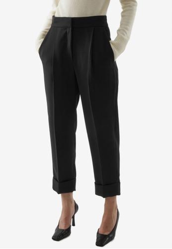 COS black Straight Woven Pants 0E64DAA983F1EDGS_1