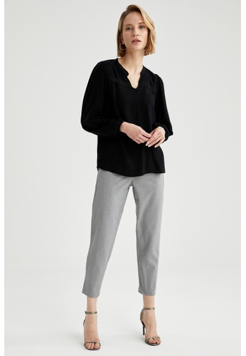 DeFacto grey Woman Woven Trouser 92A19AA772A4F1GS_1