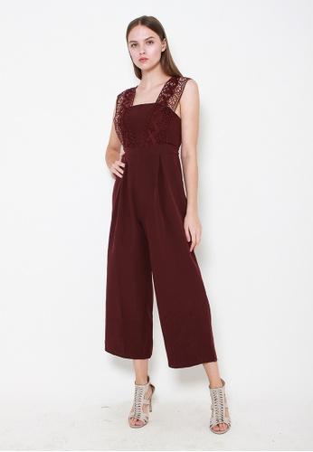 Leline Style red Taylor Crotchet Romper 2E4B1AA0F1CB9AGS_1