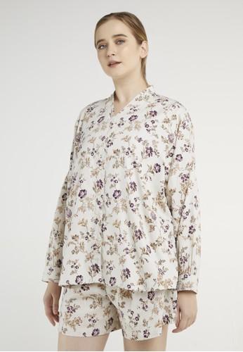 Point One multi Anneline Wisteria Kimono Shirt 48432AA803D4E2GS_1