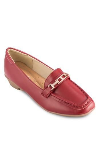 鏈扣飾esprit台灣網頁方形鞋頭樂福鞋, 女鞋, 鞋