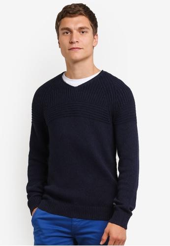 Boss Orange blue Kwarkust Knitted Jumper BO434AA0RPQTMY_1