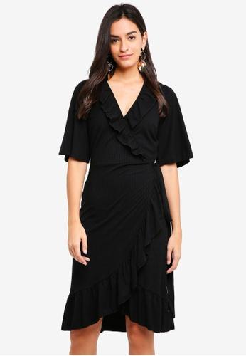 Y.A.S black YASSAICHI WRAP DRESS 86CAFAA84FBEB4GS_1