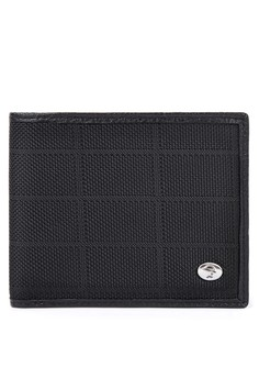 Canvas And Leather Combi Billfold Wallet