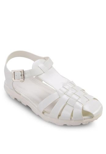 編織護趾繞踝涼鞋, zalora開箱女鞋, 涼鞋