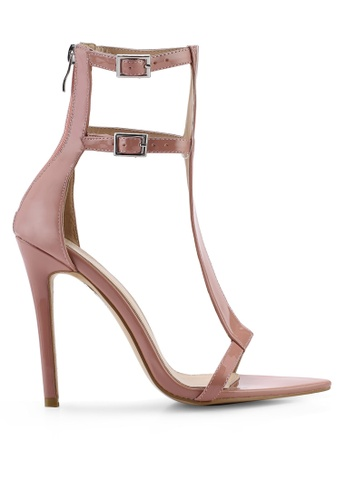 Public Desire 粉紅色 Sculpt T- Bar 細跟高跟 AB184SH3269605GS_1