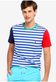 46946b3fb Polo Ralph Lauren multi Short Sleeve Crew Neck Slim T-Shirt  E6073AA22B096AGS_1
