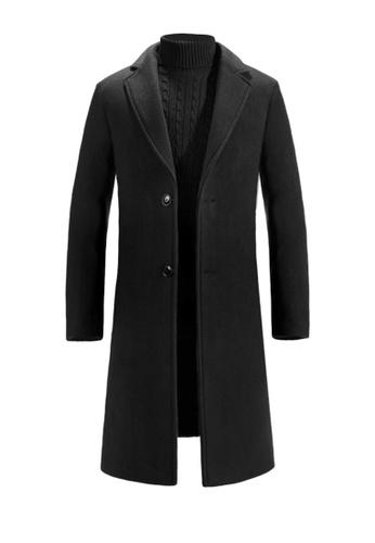 Twenty Eight Shoes black VANSA Fashion Thick Cashmere Coat VCM-C8711 632E2AAE3627D2GS_1