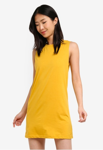 ZALORA BASICS yellow Basic Shift Tank Dress BB2B9AA94A39ADGS_1