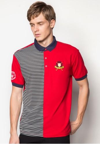條紋撞色拼接POLesprit旗艦店O 衫, 服飾, Polo衫
