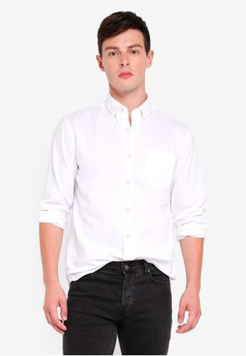 MANGO Man 白色 長袖襯衫 9DBD5AA901E8B8GS_1