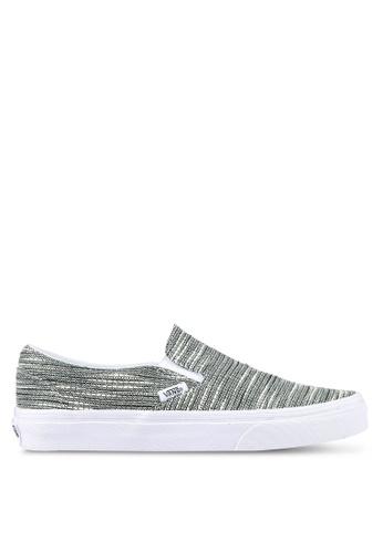 VANS grey Classic Italian Weave Slip-Ons VA142SH0RR1VMY_1