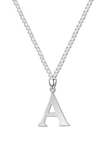 SC Tom Silver silver Letter Pendant with Chain SC872AC0J8CQPH_1