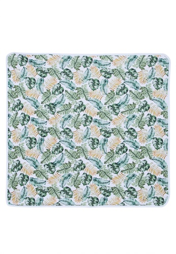Imprint Baby green Tropical Leaves Swaddle Blanket 7CF02KC90F55A8GS_1