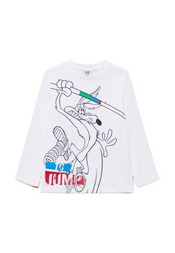OVS white Wile E. Coyote T-Shirt 6B542KAA7F8801GS_1