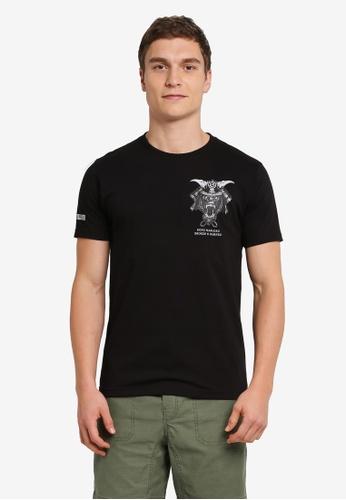 Graphite black Kong Warlord T-Shirt GR677AA0SCALMY_1