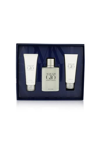 Giorgio Armani GIORGIO ARMANI - Acqua Di Gio Coffret: Eau De Toilette Spray 100ml/3.4oz + All Over Body Shampoo 75ml/2.5oz + After Shave Balm 75ml/2.5oz 3pcs 1E644BE041B75EGS_1