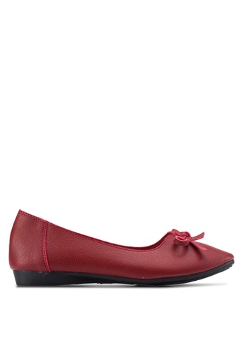 Louis Cuppers red Bow Detail Flats LO977SH66ENXMY_1