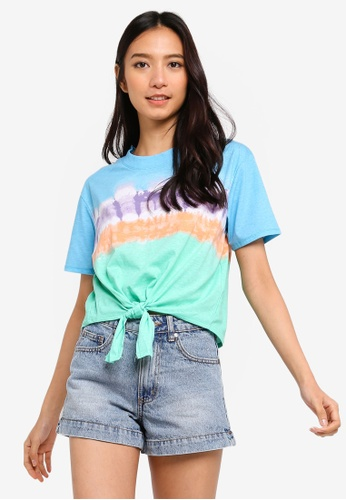 Cotton On multi Candy Chopped Tie Front Tee EA482AA2CFDCC4GS_1