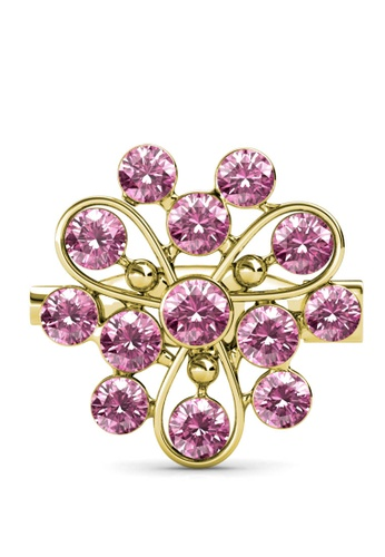 Her Jewellery gold Vanda Brooch (Light Rose) - Made with premium grade crystals from Austria FC44BAC044E923GS_1