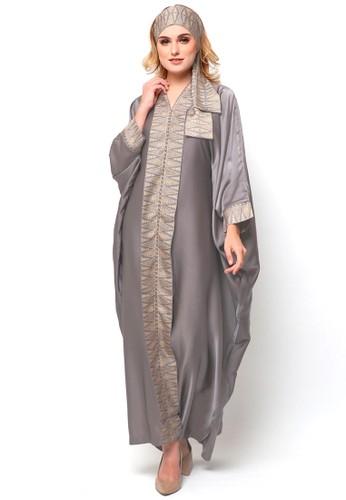 Kanzi by liza yahya grey Kanzi Long Sleeve Tapis Kaftan Kebaya 25A75AAFBF32D3GS_1