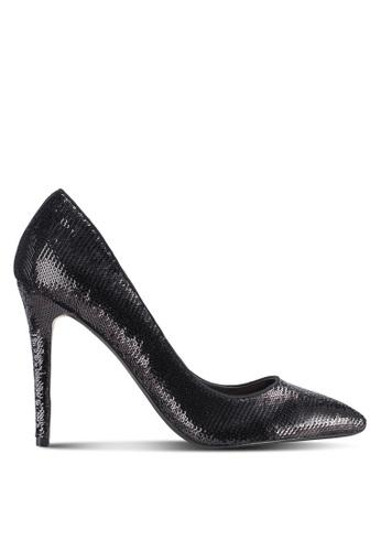 Dorothy Perkins black Black Sequin 'Emie' Pointed Court Heels DO816SH46TXTMY_1