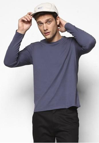 簡約圓領長袖衫, 服飾, esprit outletT恤