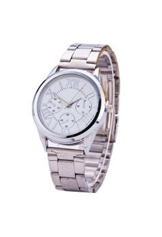 Roman Numerals Gold Steel-belt Watch SY-3
