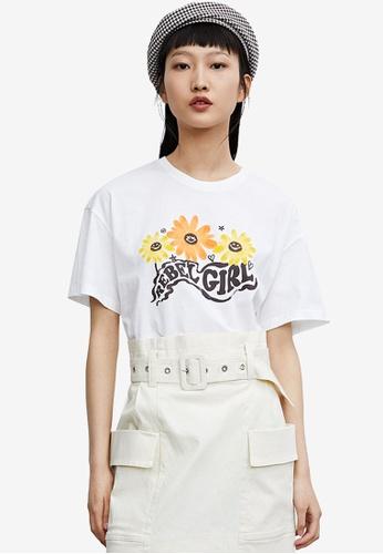 URBAN REVIVO white Casual T-Shirt 9882EAA1D485E4GS_1