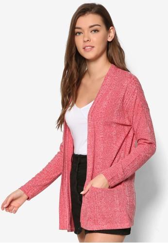 Zali 雙口袋長版開襟外套, 服飾esprit台灣outlet, 服飾