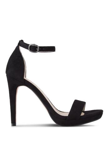 ZALORA 黑色 露趾繞踝高跟鞋 01815SHE1E5D0CGS_1