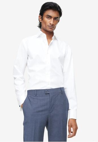 MANGO Man white Slim Fit Cotton Suit Shirt 8315CAABA00C85GS_1