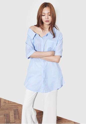 寬鬆短袖襯衫、 服飾、 T-shirtNAIN寬鬆短袖襯衫最新折價