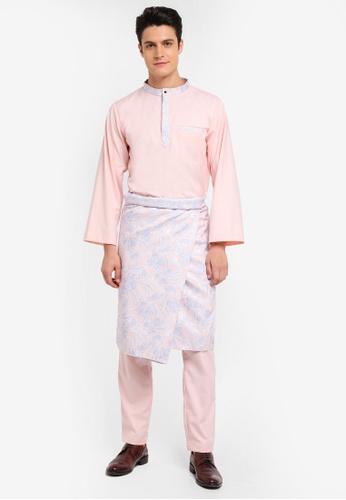 Zalia Homme pink Baju Melayu 3-Piece Co-ordinate B743DAA8AD769CGS_1