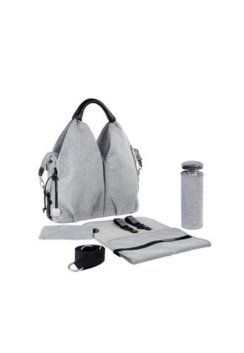 LASSIG Lassig Green Label Neckline Diaper Bag (Black Mélange) 655CDKC5BFB472GS_1