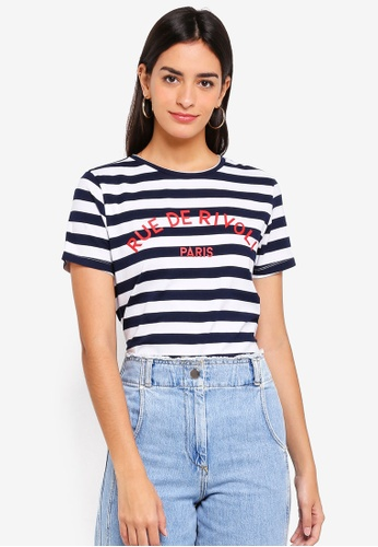 ZALORA multi and navy Graphic T-Shirt 4A9AAAAC890D7EGS_1