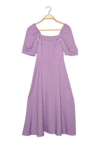 Trendyol purple Polka Dot Frock Dress DF840AAB9F22C5GS_1
