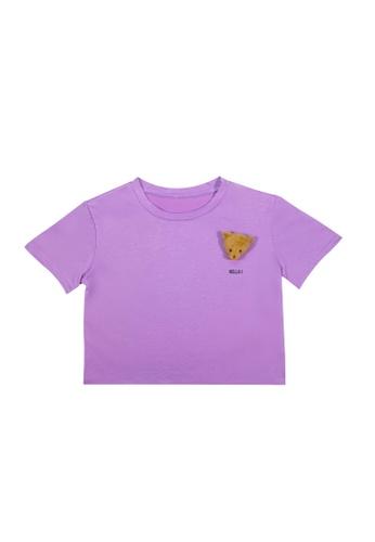 DRUM purple HELLO BEAR TEE- PURPLE C24FDAA18B9C60GS_1