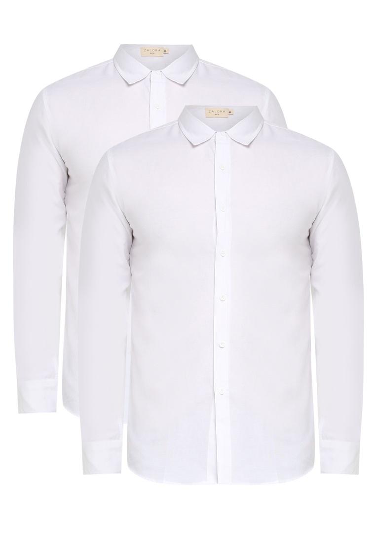Bundle Basic ZALORA Pack White Long and Sleeve Oxford White tw6PH4wqn