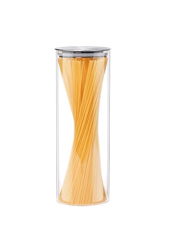 HOUZE HOUZE - 1500ml Glass Storage Jar with Stainless Steel Sealed Lid (Dia: 9.5cm) 44513HL547BFE8GS_1