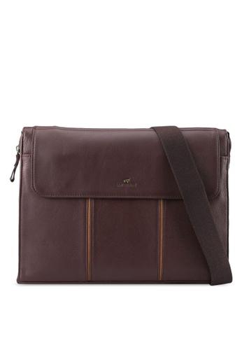 RAV Design brown Leather Envolope Clutch RA113AC0SJA5MY_1